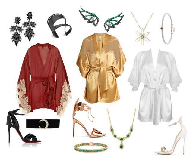 Shinobi Casual #21 by alicepardus on Polyvore featuring polyvore, fashion, style, Carine Gilson, Christian Louboutin, Francesco Russo, Casadei, Effy Jewelry, Fallon, Cathy Waterman, Stephen Webster, Lynn Ban and clothing