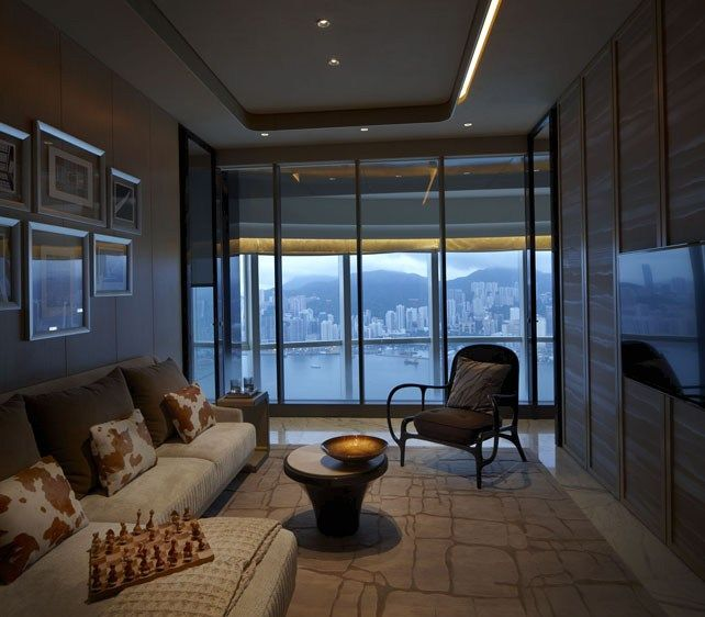 The Masterpiece - Duplex Apartment, Hong Kong Asian interiors - farbiges modernes appartement hong kong