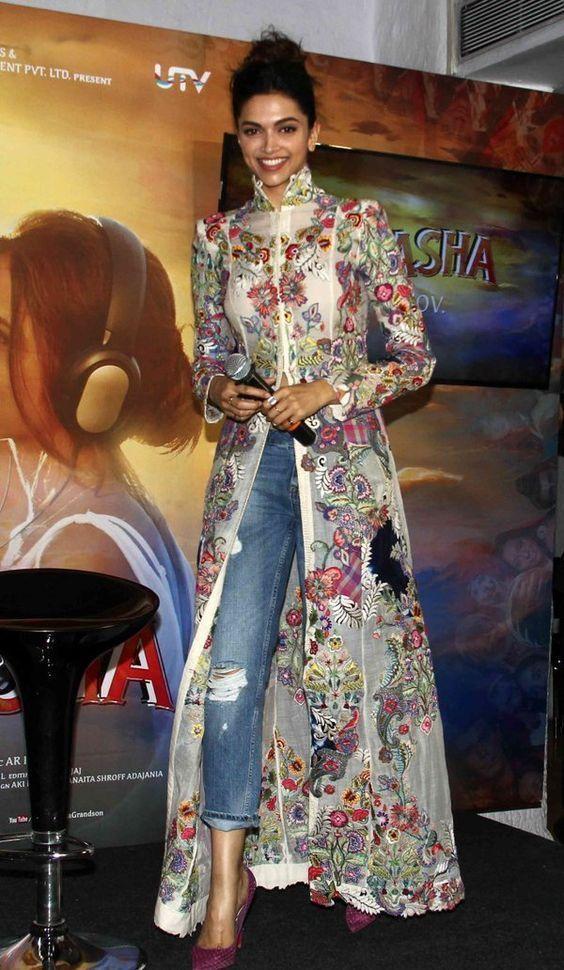 Deepika Padukone In Perfect Indo Western Look