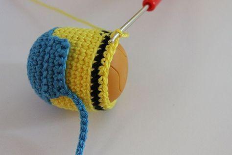 Kostenlose Häkelanleitung. Minion #minioncrochetpatterns
