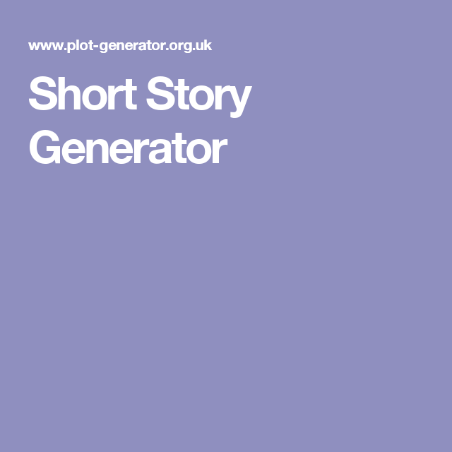 create your own story generator
