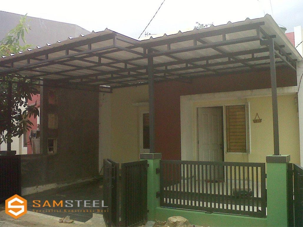 model kanopi atap baja ringan project minimalis rumah dan desain