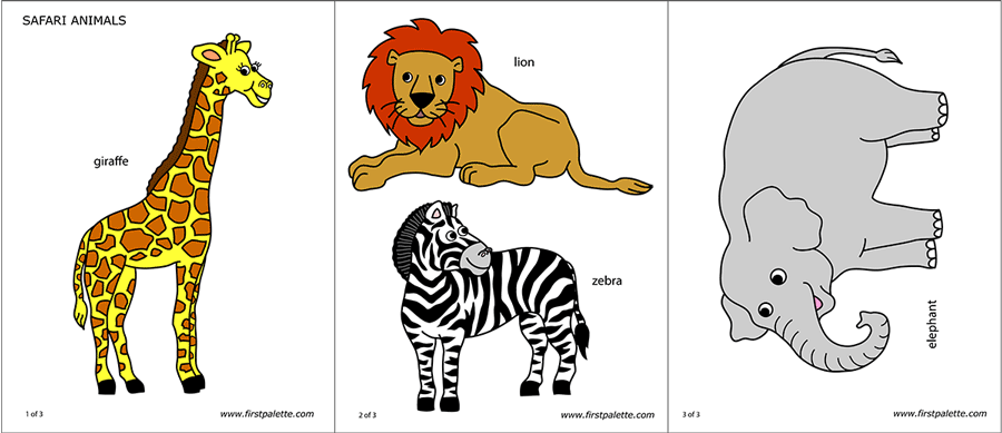 Safari Or African Savanna Animals Free Printable Templates Coloring Pages Firstpalette Com African Savanna Animals Savanna Animals Wild Animals Printable
