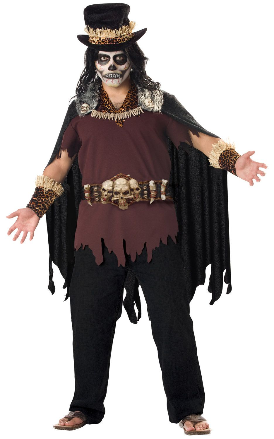 Mens Witch Doctor Plus Size Costume Ethnic Costumes - Mr. Costumes ...