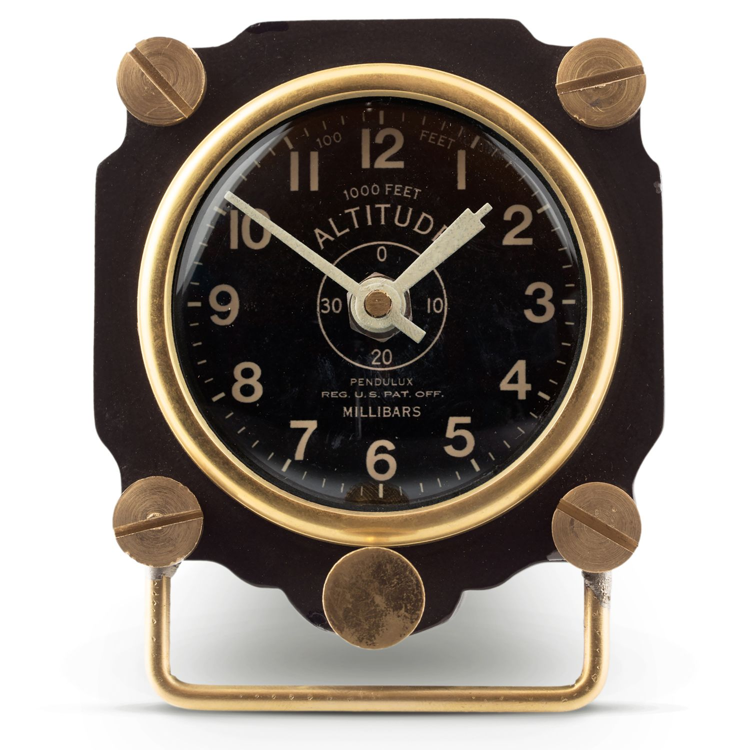 Cool Altimeter Gauge Table Top Clock, Great For Your Industrial Decor. From  Museum Outlets