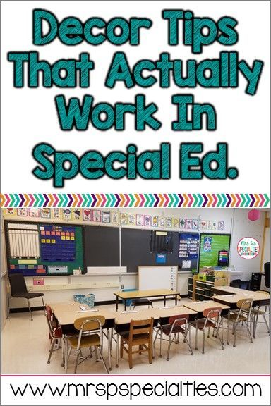 3 Decor Tricks For Special Education is part of Special Education Classroom decor - Sometimes special education classrooms require different decor and organization tips than regular education classrooms  Try out these 3 special education classroom tested ideas!