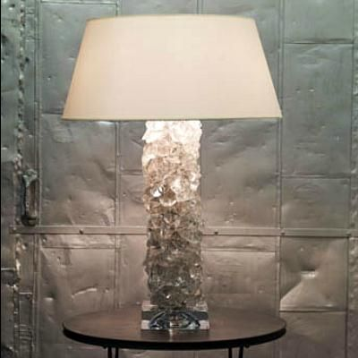 Rock pillar table lamp by c l sterling son on homeportfolio rock pillar table lamp rock crystal collection from c l sterling son mozeypictures Gallery