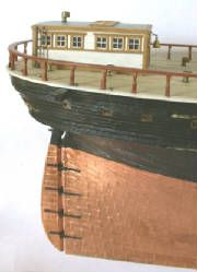 """Ship model """"Lightning"""" 1854 clipper  From source unknown"""