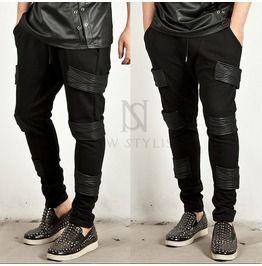 Triple Leather Accent Sweatpants 91