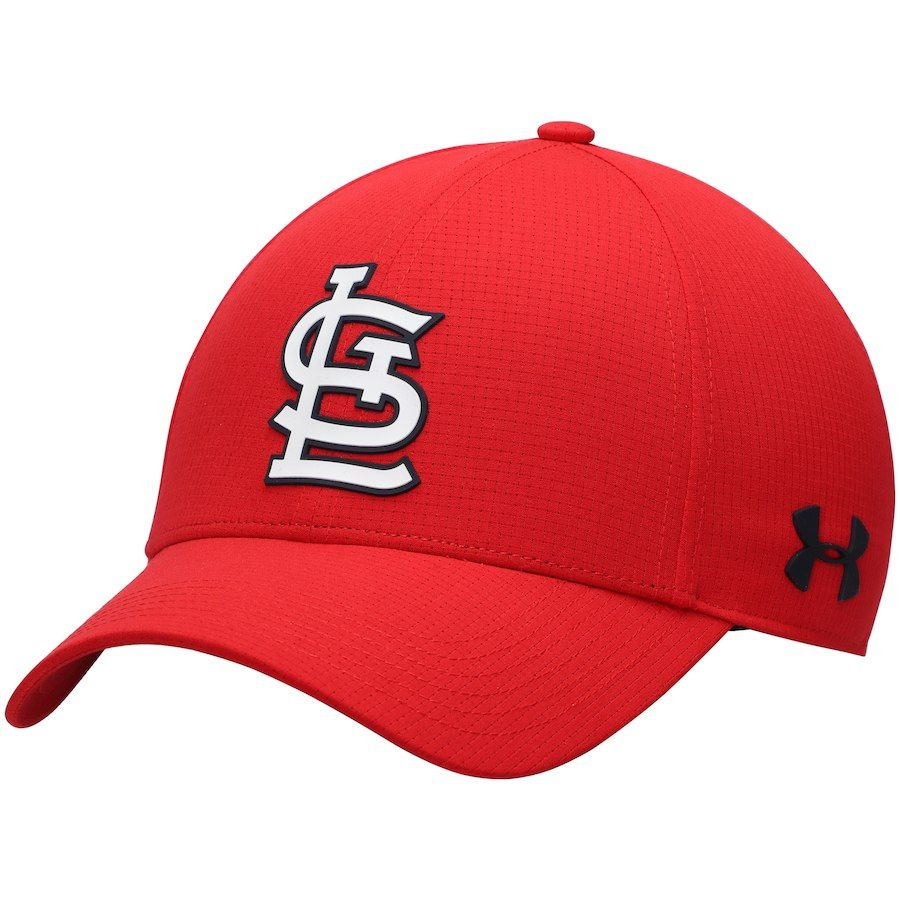 43691f19c Men's St. Louis Cardinals Under Armour Red MLB Driver Cap 2.0 ...