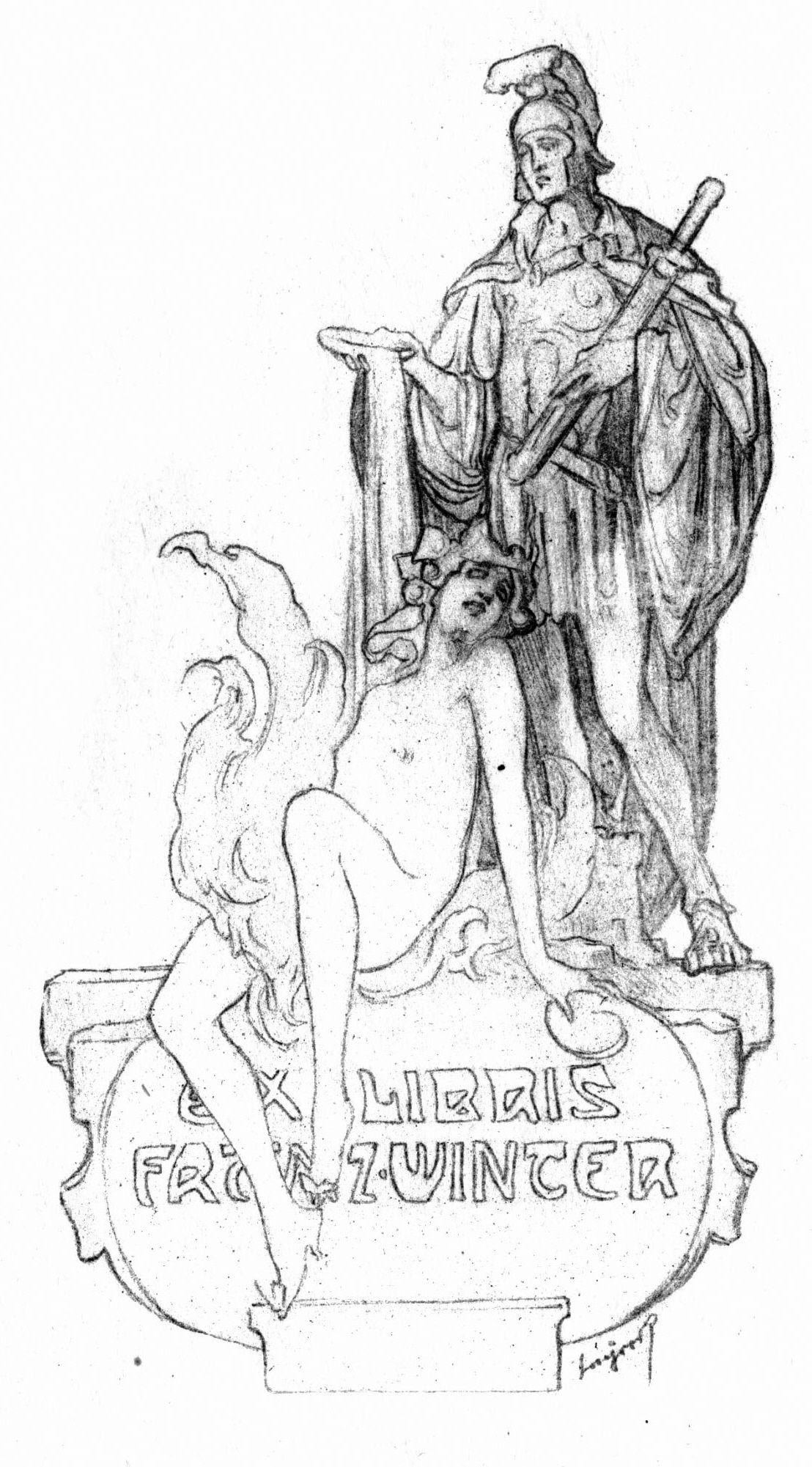 Franz von Bayros - Ex libris, Franz Winter