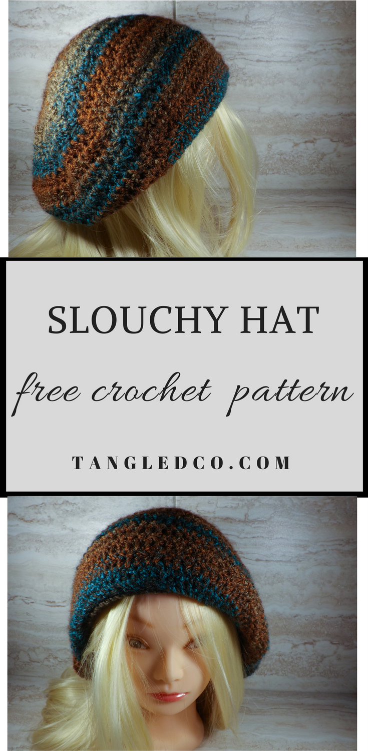 Crochet Slouchy Hat - Free Crochet Pattern | Sewing - Crocheting ...