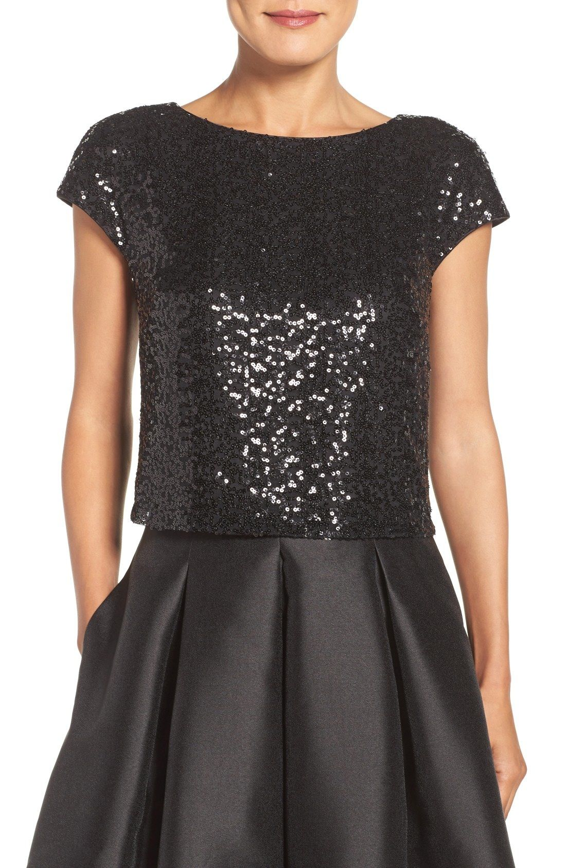 Eliza j sequin crop top boda frese pinterest sequins