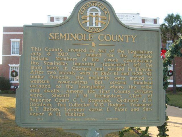Donalsonville Ga Historic Marker Seminole County Osceola Markers