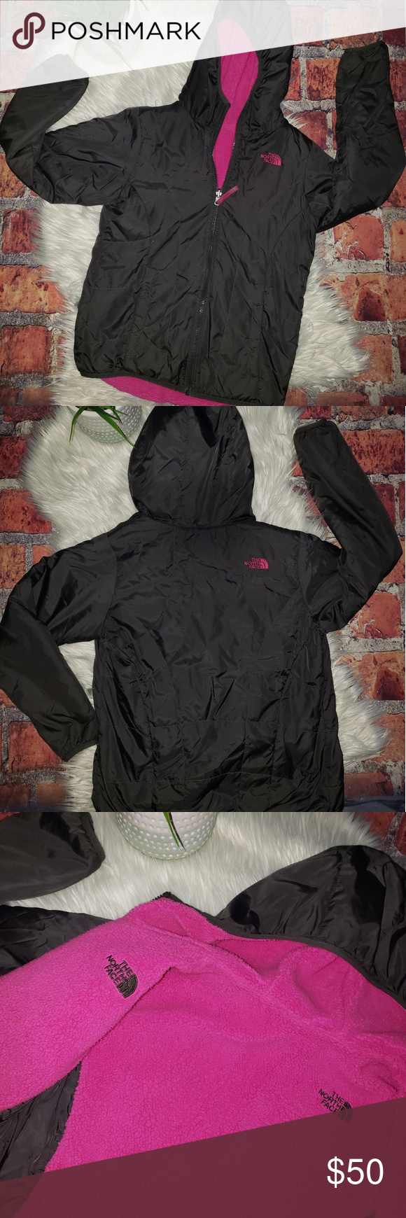 Girls North Face Reversible Perrito Jacket Girls North Face Perrito Reversible Jacket Size Youth Xl Grey And Pink Euc North Face Girls Fashion Clothes Design [ 1740 x 580 Pixel ]