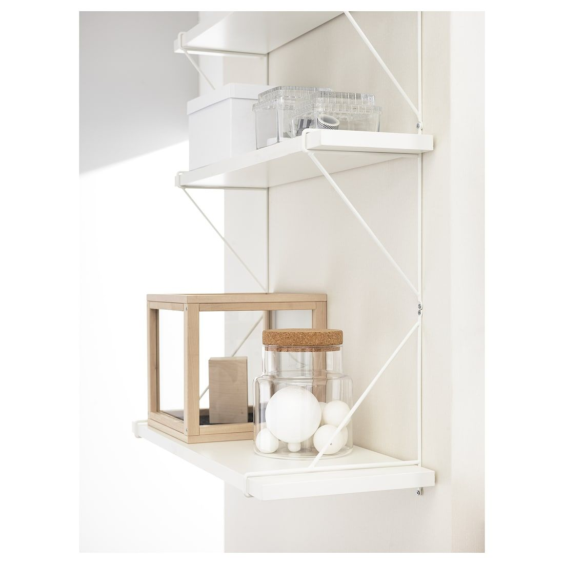 Bergshult Pershult Wall Shelf White White 31 1 2x7 7 8 In