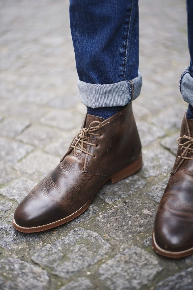 bottine fashion pour homme cuir
