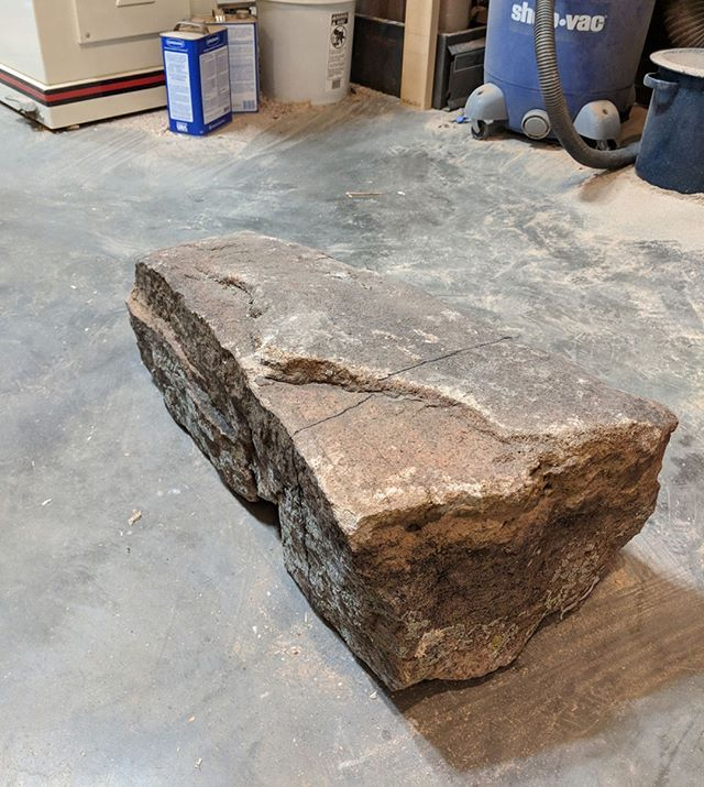 For My Next Project Im Going To Turn This Granite Bolder Into Wooden Bench   Stonemason  Stone
