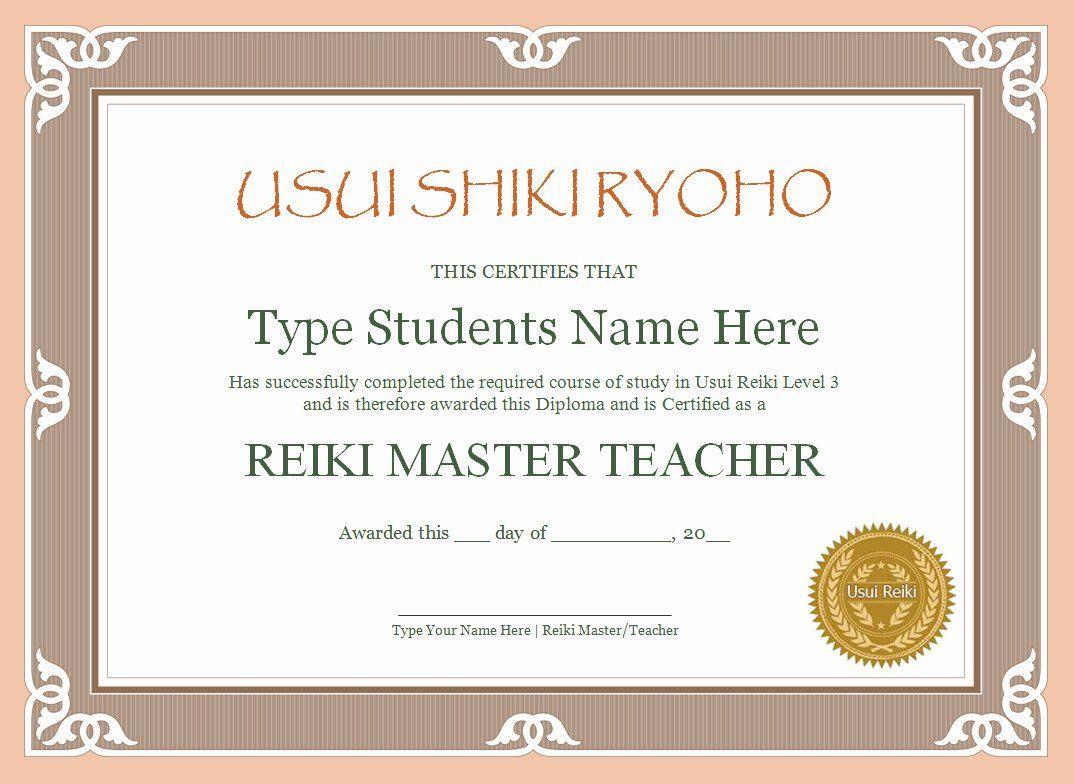 Reiki Certificate Template Free Elegant 11 Best Certificate Borders Images On Pinterest Dannybarrantes Template Certificate Templates Reiki Template Free Reiki certificate template free download
