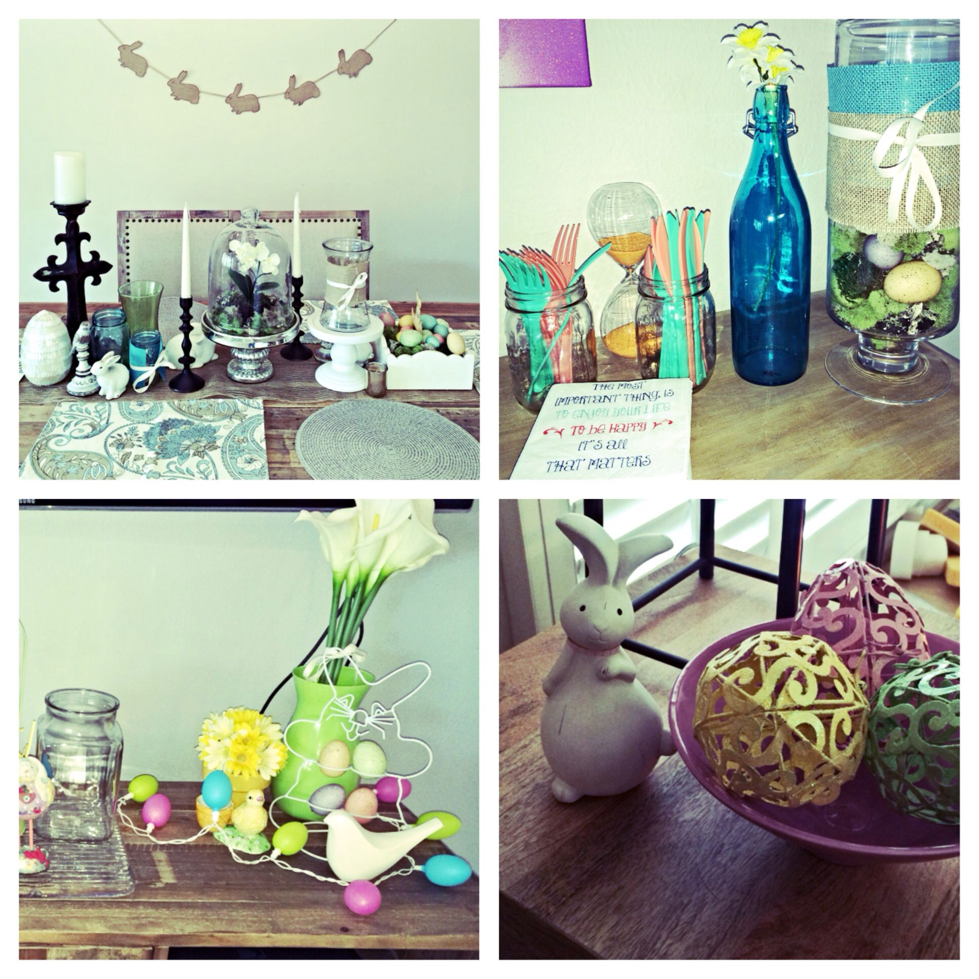 Easter decor is up ready for next weekend decor glass