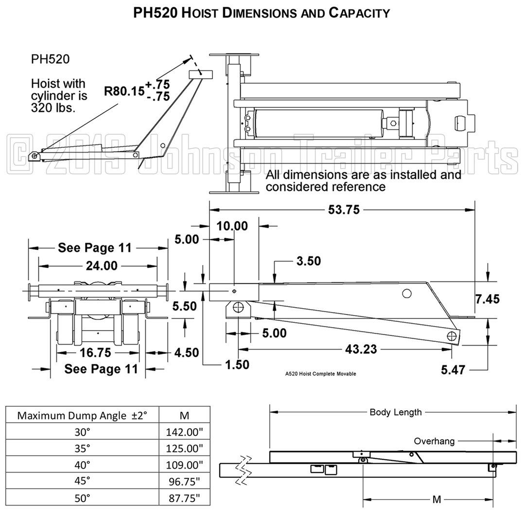 Free Shipping 10 Ton 20 000 Lb Hydraulic Scissor Hoist Kit Ph520 Standard Perfect For 10 16 Dump Trailers Dump Beds Pl Remolques Planos Compras