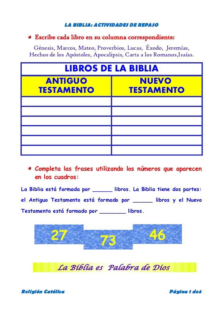 La Biblia Actividades De Repaso Escribe Cada Libro En Su Columna Actividades De La Biblia Lecciones De La Biblia Libros Del Antiguo Testamento