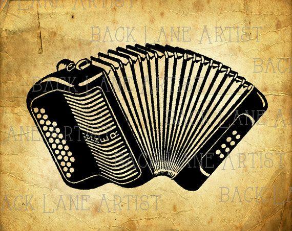 vintage hohner accordion muscial instrument clipart lineart illustration instant download png. Black Bedroom Furniture Sets. Home Design Ideas