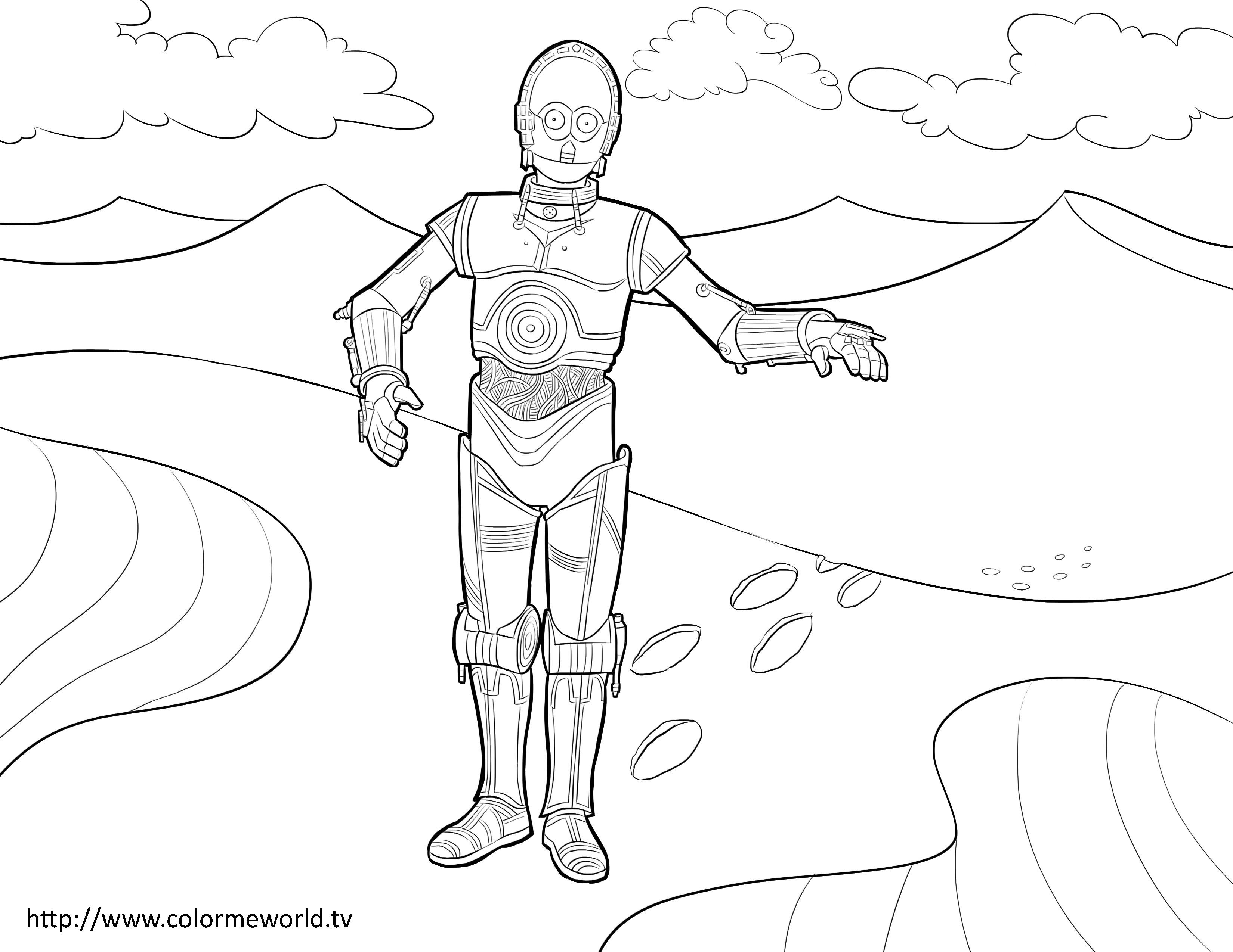 C 3po Pdf Printable Coloring Page Lineart Star Wars Pinterest