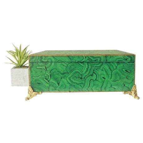 Vintage Faux Hand Painted Malachite Box by by SavvyVintageBoutique