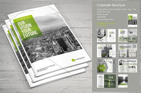 Corporate Brochure Vol 2 By Mrtemplater On Creativemarket