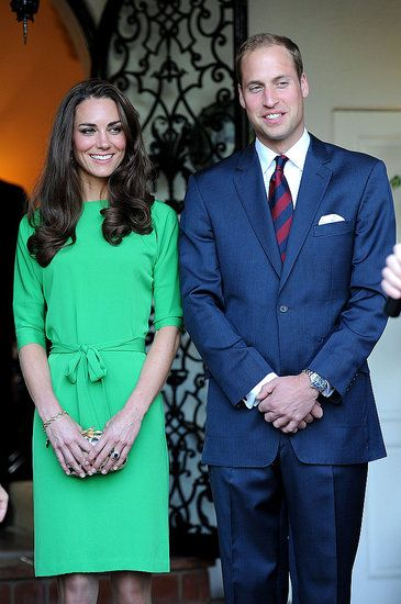 Kate Middleton Makes a Bright Appearance in LA With Prince William and David…