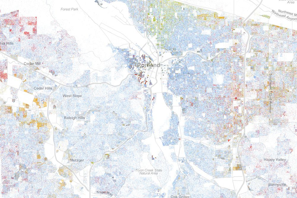 Map Of Americas Racial Segregation.The Best Map Ever Made Of America S Racial Segregation Urban