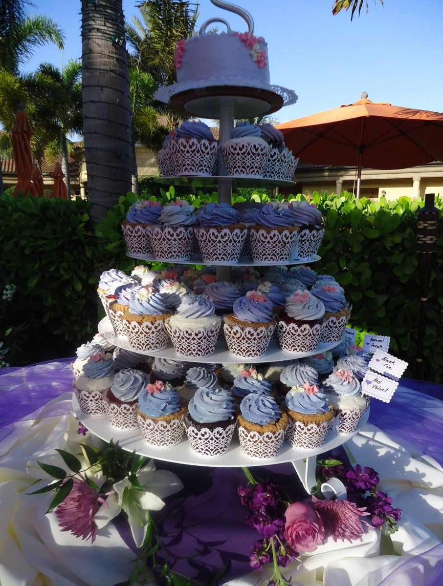 Simply Cupcakes baked backyard wedding celebration. Ten