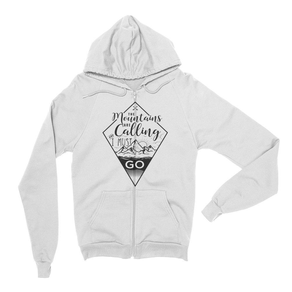 The Mountains Are Calling - Unisex Premium Zip Up Hoodie