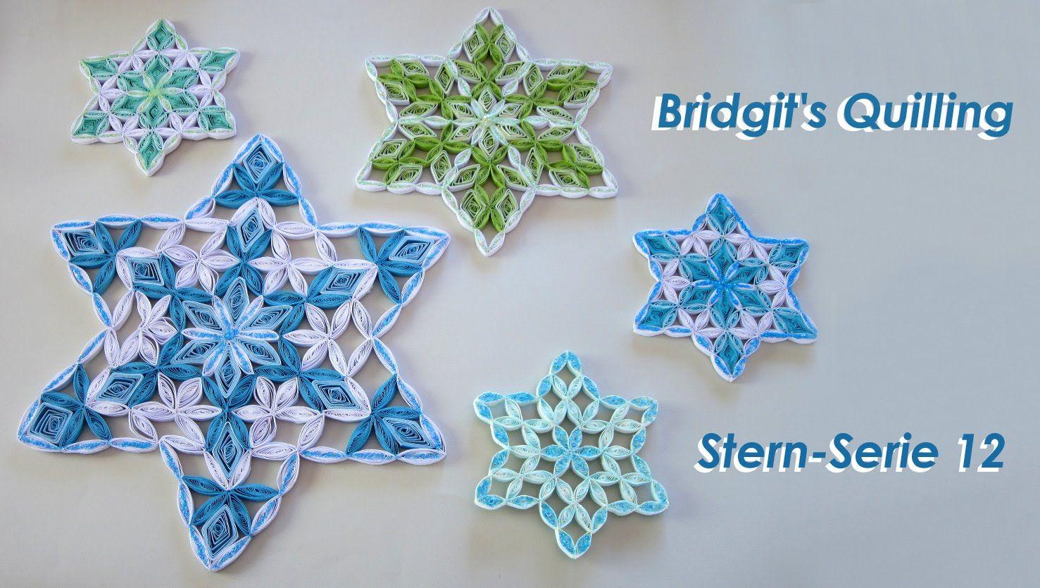Bridgits Quilling Stern Nr 12 Star No 12 Serie Blume Des