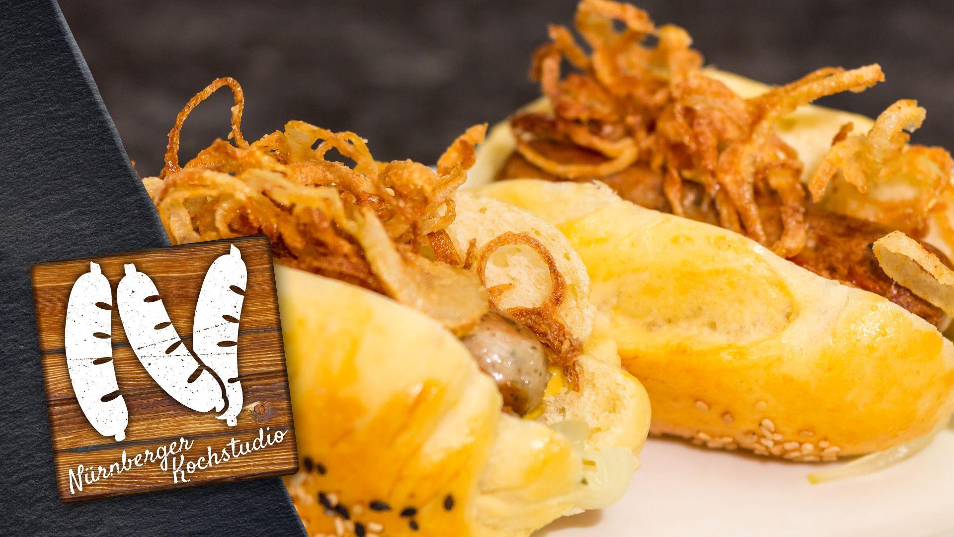 Franken-Hotdog mit Nürnbergern | Rostbratwurst, Amerikanische Küche ...