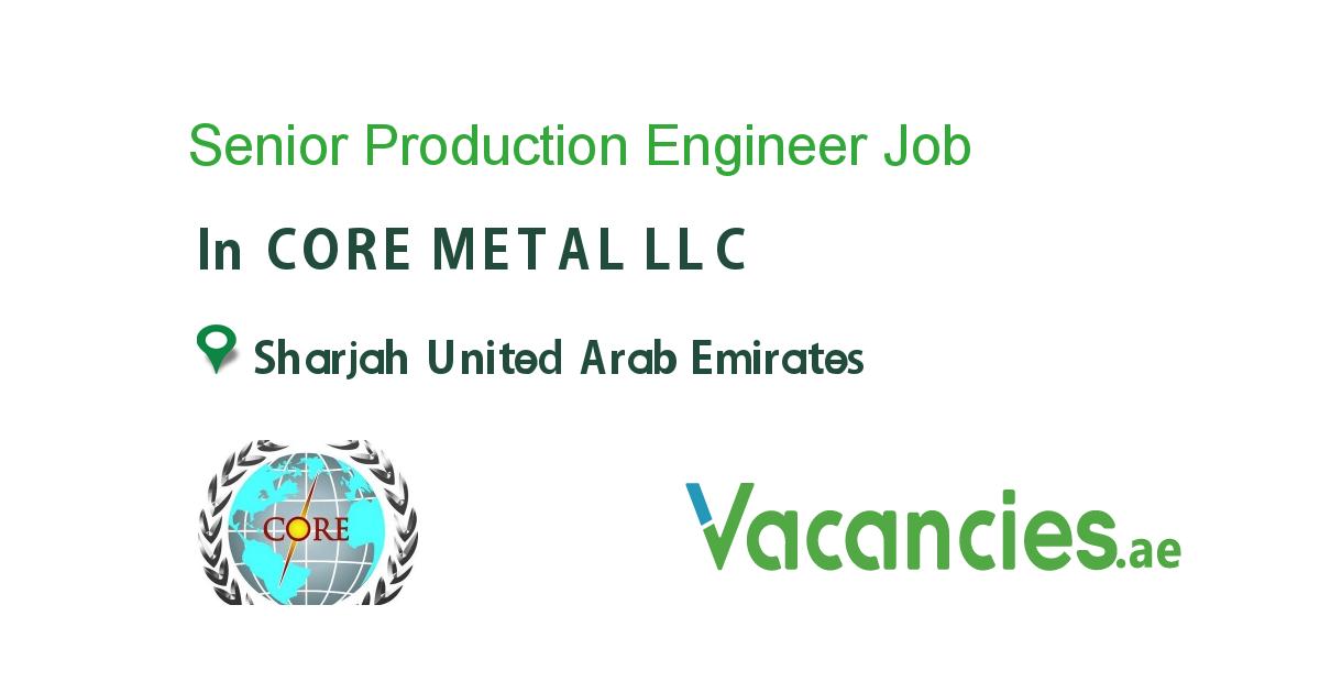 Senior Production Engineer Executive jobs, Accounting