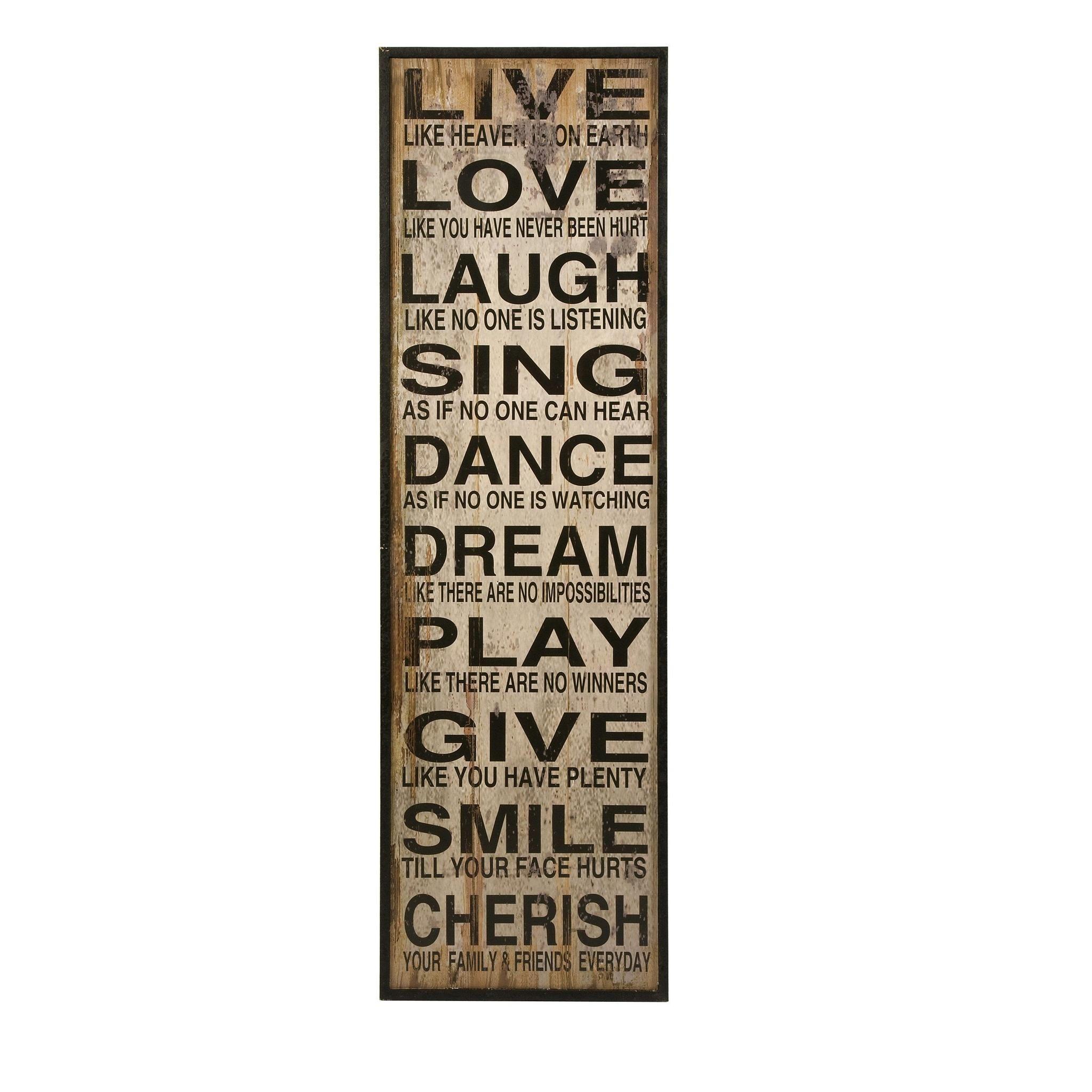 Elegant Styled Live Love Laugh Wall Decor