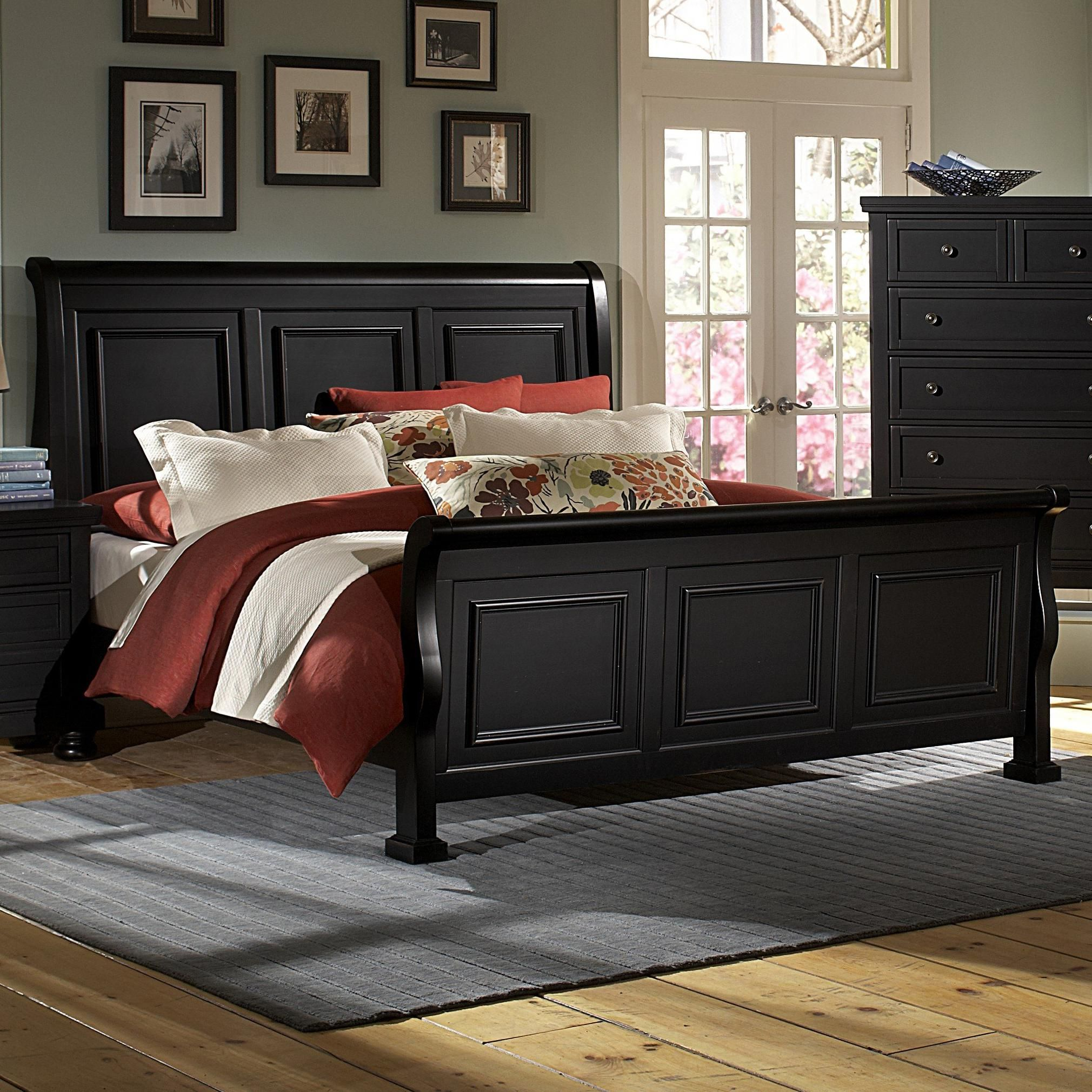 reflections king sleigh bed by vaughan bassett hudson s furniture
