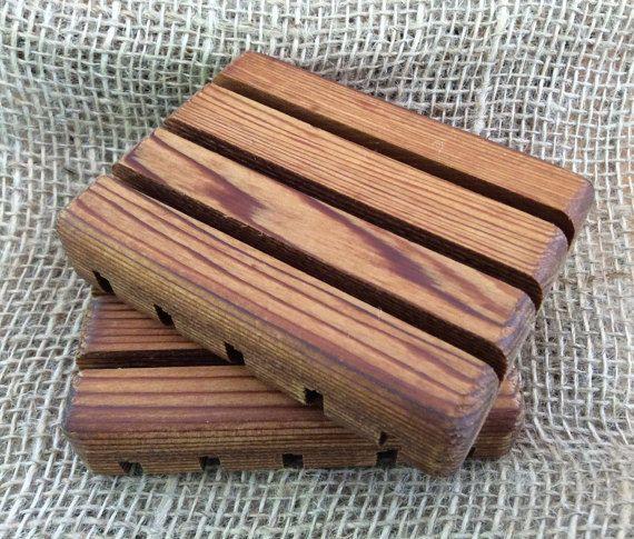Cedar Soap Dish wood soap dish wooden soap deck by PBsSoapWorks ...