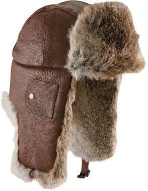 af1f1a618 Mad Bomber Deerskin Leather Fur Hat, Men's Cold Weather Headwear ...