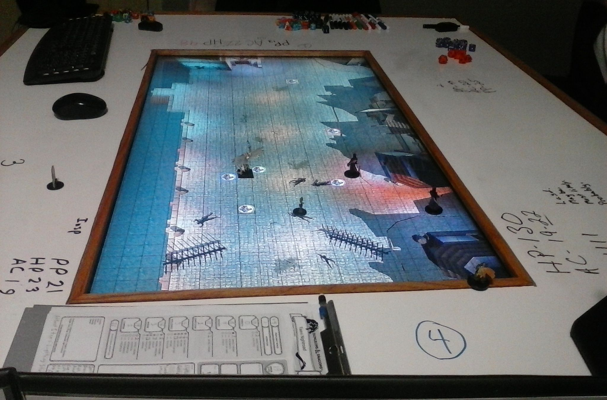 EN World RPG News Reviews DD Th Edition Digital Gaming Tables - Digital board game table