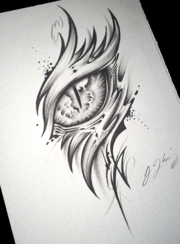 Dragon Eye Tattoo Alpha Von J Kings Art Luna Tekenen
