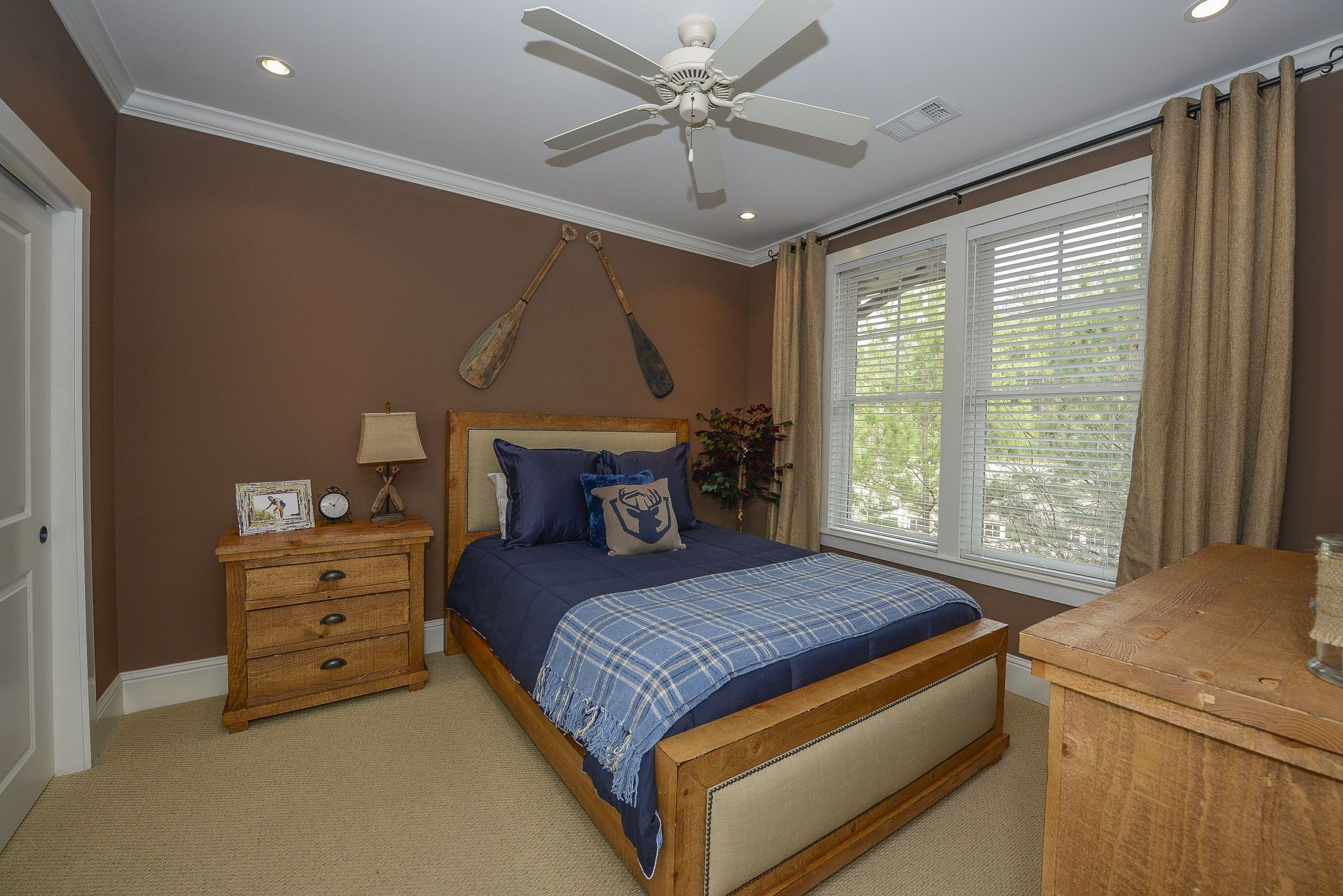 One of three bedrooms at the luxury vacation rent… Lake