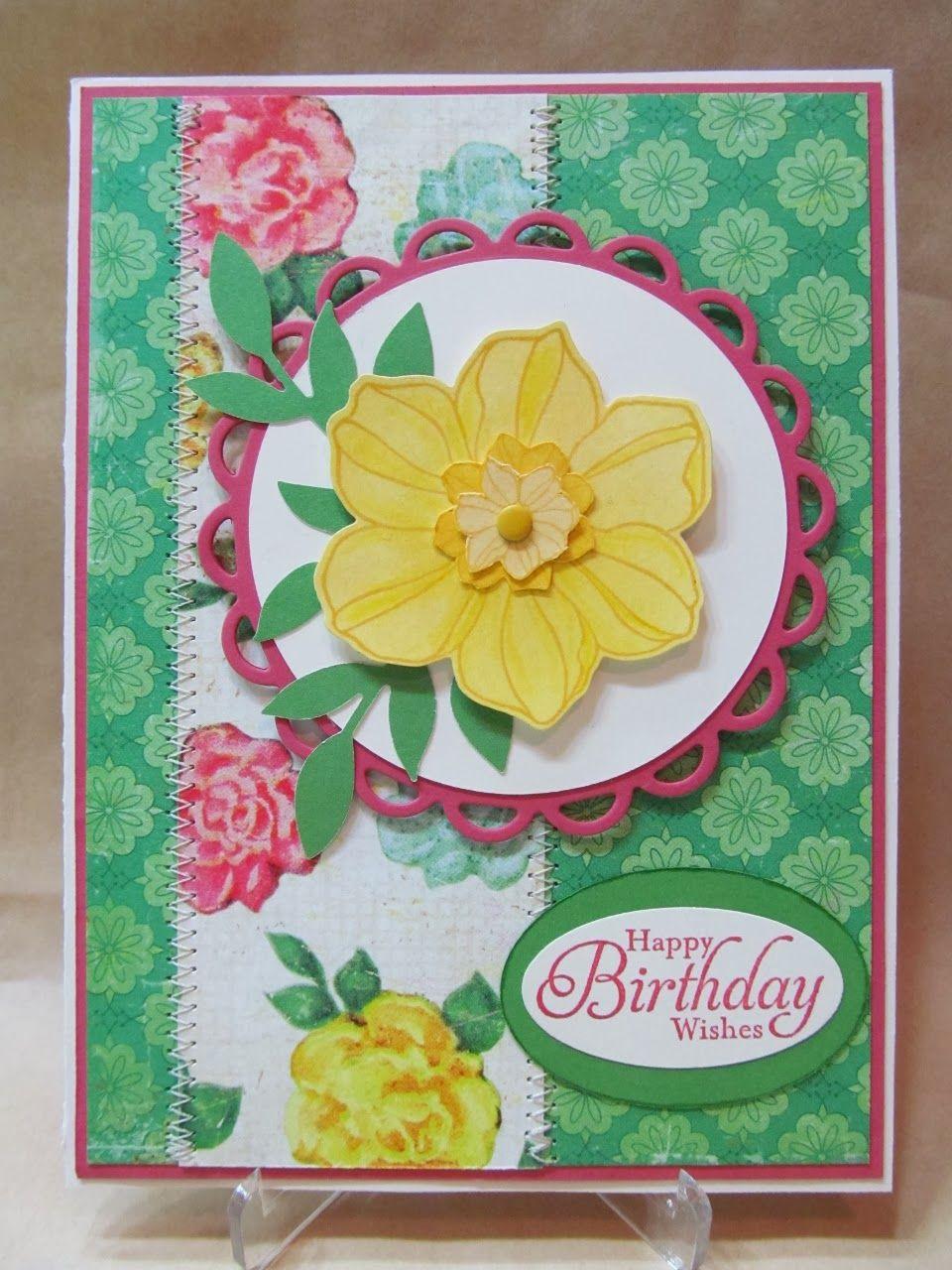 yellow flower birthday card  flower birthday cards