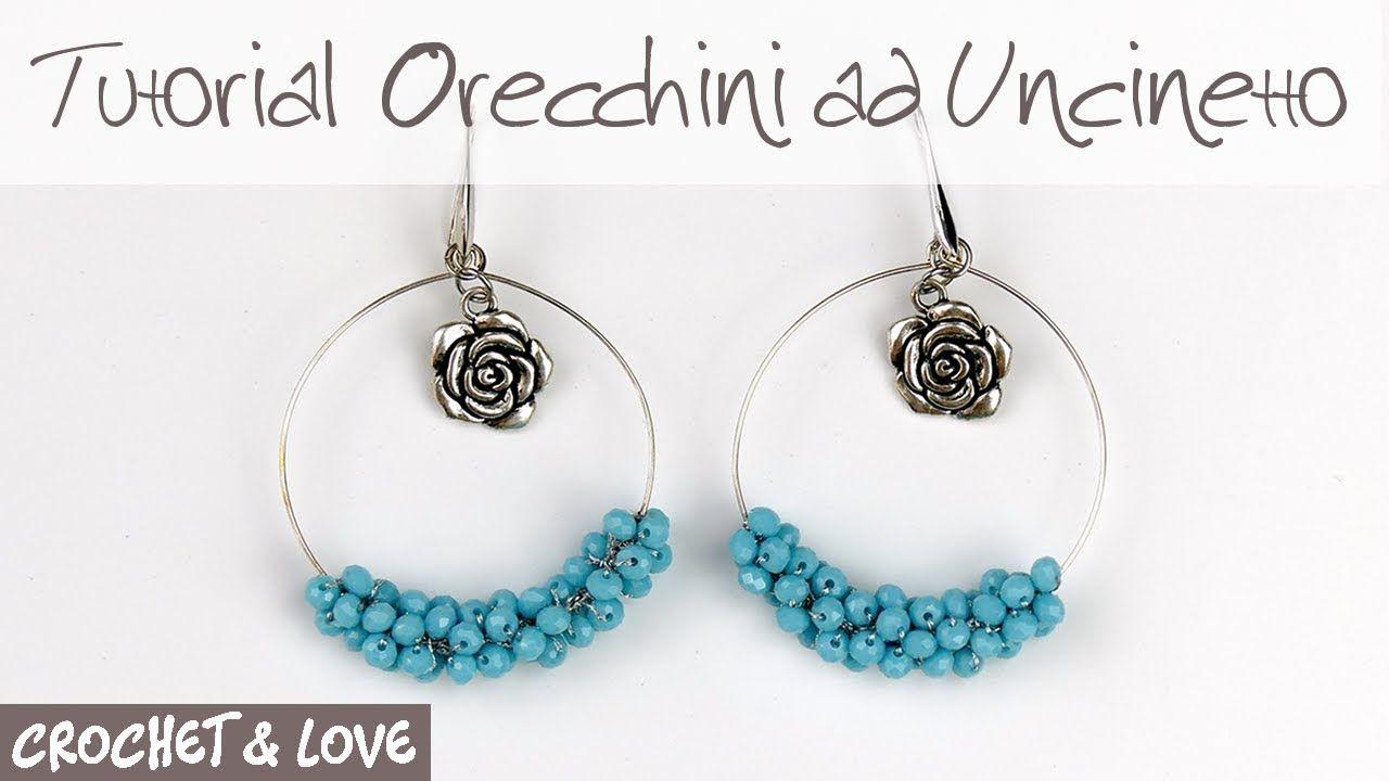 Tutorial Orecchini A Cerchio Con Perline Ad Uncinetto Sub Eng Y