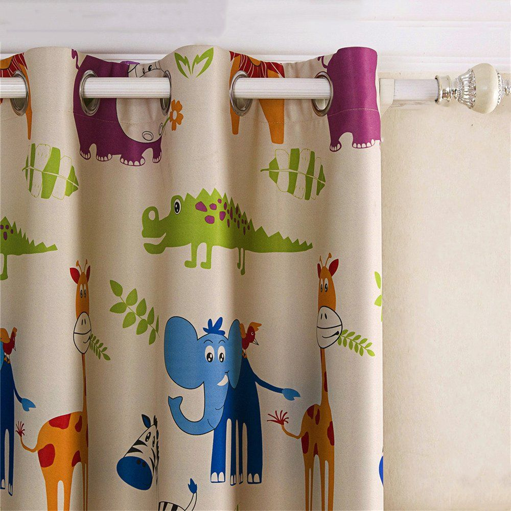 2 Panels Kids Room Curtains Animal Classical Grommets Room Darkening Window Drapeszoo52 Wx84 L To Watch Even More For This Thing See The Ph Kids Room Curtains
