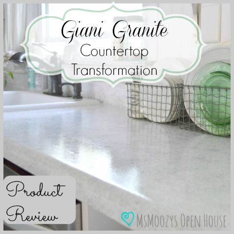 MsMoozys Open House: Giani Granite Countertop Transformation {Review}
