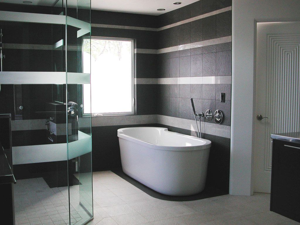 Black and white bathroom wall tiles - Bathrooms Black White Bathroom Design Bs2h By Labs2