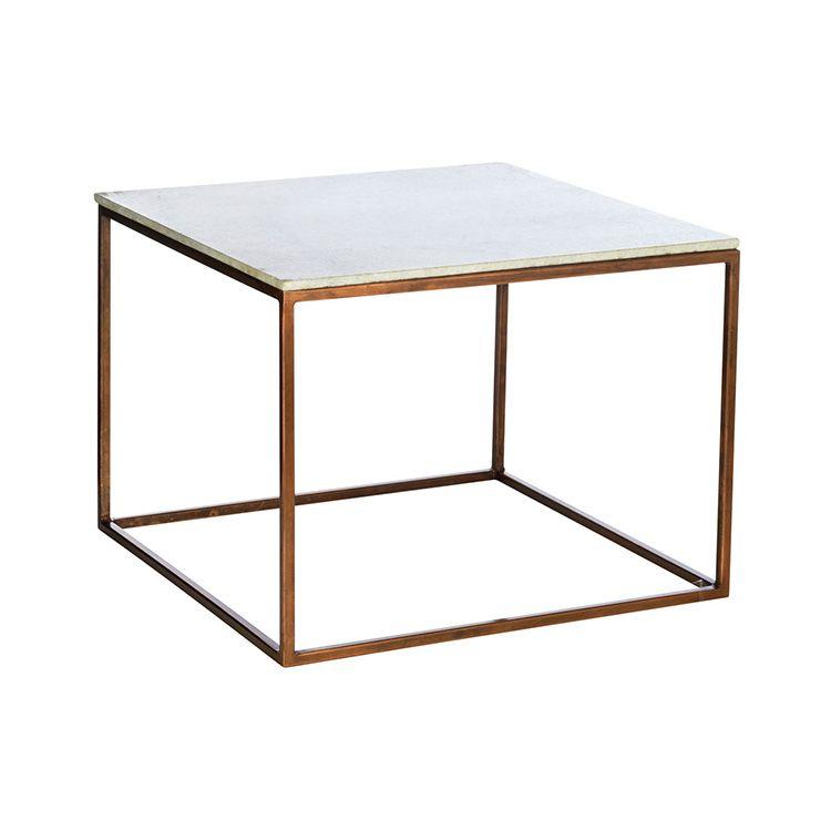 Tisch aus marmor mit kupferantikgestell h o m e for Wohnzimmer marmortisch
